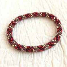 Woven Seed Beaded Bracelet Woven Seed Beaded Bracelet. Great condition. Jewelry Bracelets