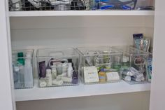 simply organized: Organized Bathroom Supply Cabinet