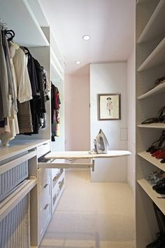 Incorporate this ironing board in master wardrobe cabinetry