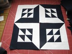 """Nähanleitung """"Magic Block"""" • Stoff und Zwirn. Step by step instuctions for the block"""