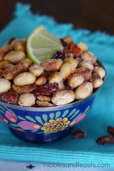 Chile-Lime Peanuts | Cacahuates con Chile y Limón and #MyHolidayHero - Nibbles and Feasts