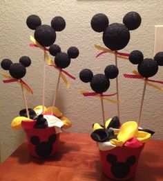 Mickey Mouse Party Centerpieces | Baby Shower