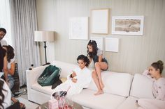 Getting Glam. Our Yorkville Suites are a favourite amongst brides getting ready for their big day. | Photography: Purple Tree Photography | #fourseasons #Toronto #weddings #fsweddings #bridal #summerwedding #summer