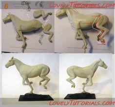 horse sculping tutorials