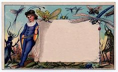 tins *The Graphics Fairy LLC*: Amazing Whimsical Fairy & Insects Trade Card - Label