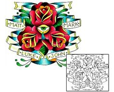 Traditional Tattoos LGF-00409 Created by Levi Greenacres