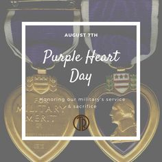 Some gave all; all gave some. We salute those who have served our country and thank them for their bravery and sacrifice.🎖💜 #PurpleHeartDay