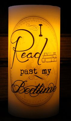 I Read past my Bedtime Love of Reading LED by NeverlandJewelry