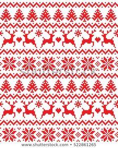 New Year's Christmas pattern pixel, card - scandynavian Norwegian sweater style Cross Stitch Borders, Cross Stitch Charts, Cross Stitch Designs, Cross Stitching, Cross Stitch Embroidery, Embroidery Patterns, Cross Stitch Patterns, Christmas Charts, Christmas Cross