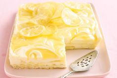 If you're looking for the best cheesecake recipes around, you can't go wrong with lemon. From unbaked lemon cheesecake to the more traditional lemon cheesecake recipes, we've picked our favourites right here. Lemon Cheesecake Recipes, Lemon Recipes, Sweet Recipes, Cheesecake Bars, Cheese Recipes, Yummy Recipes, Easy Summer Desserts, Just Desserts, Dessert Recipes