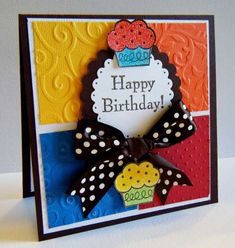 bright birthday card