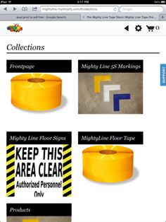 Mighty Line Tape now on your iPad! Wouldn't you like to take your iPad out to the warehouse or manufacturing floor and order your Mighty Line Tape and Mighty Line Floor Signs?    Well now you can! Today FloorTapeStore.com has rolled out FloorTapeStore.com for the iPad! You can see all of the products with pictures and order while you are on the go.