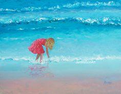 Beach Decor Beach painting fine art beach cottage by JanMatsonArt, $115.00