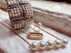 Pearl jewelry on set today for JCK magazine's September issue. @imperialpearl #ellagem #thakoonfortasaki #melaniegeorgacopoulos