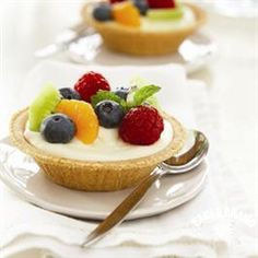 Fresh Fruit-Topped Cream Cheese Tarts from Eagle Brand® make an individualized dessert for everyone!