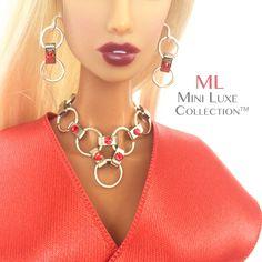 Doll Jewelry - Swarovski Crystal - Fashion Royalty dolls, Poppy Parker, Barbie on Etsy