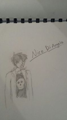 This is my best and only drawing of nico diangelo so far
