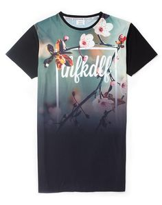 THFKDLYF Floral Long T-Shirt