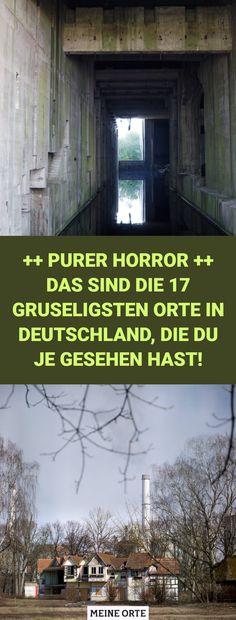 Schaurige Orte in Filmen können einem so richtig das Fürchten lehren. Viele von uns sind froh, dass es sich aber nur um einen Film handelt und sie diesen jederzeit ausmachen können. Doch wenn du zu denjenigen gehörst, die das Gruseln lieben und einen schaurigen, verstörenden Ort schon immer mal in Natura erleben wollten, dann ist dieser Artikel wie für dich gemacht. #gruselig #orte #deutschland #horrororte #horror #beelitz #heilstätten #eisfabrik #oppenheim #berlin #abhörstation #teufelsberg Halloween Bucket List, Halloween Buckets, In Natura, Berlin, Ice Cream Factory, Adventure Travel, Creepy, Travel Advice, Places