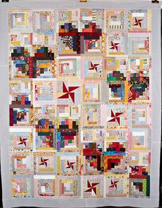Hearts Log Cabin Quilt