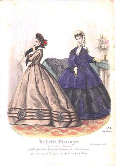 Fashion plate, 1863 France, Le Petit Messager