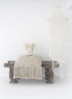 Losari Home & Woman - Indrani Macrame Cushion && Lalita Feather…