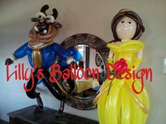 Beauty and the Beast balloon sculptures