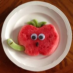 50+ Kids Food Art Lunches - Watermelon Apple Snack