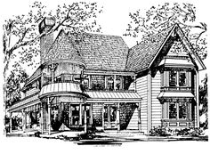Victorian House Plan chp-10157 at COOLhouseplans.com