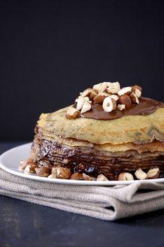 Gluten-Free Nutella Crepe Cake