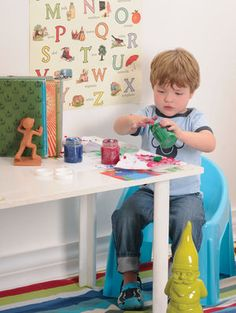 Finger-painting is a great way to give your toddler's fine motor skills a good workout