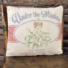 Under the Mistletoe Pillow