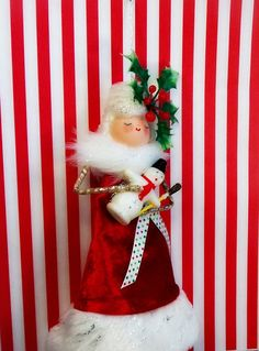 vintage inspired Miss Christmas Queen Doll by sugarcookiedolls, $30.00