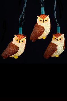 10-Light Brown Owl Light Set | HauteLook