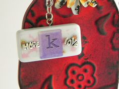 Domino Initial Necklace Hope & Love Charms, by ScatterCreations, $10.99  Let me personalize one for you!