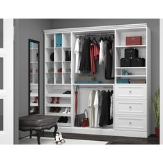 Shop Bestar Versatile Collection White Classic Storage Kit at Lowe's Canada online store. Find Wood Closet Kits at lowest price guarantee. Closet Rod, Closet Storage, Closet Organization, Organization Ideas, Bedroom Storage, Organizing Drawers, Closet Shelving, Front Closet, Attic Storage