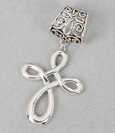 Cross Scarf Jewelry.  $10.90 @ www.PurpleBoxJewelry.com #scarfjewelry #Fashion