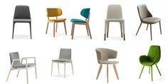 Confortevoli, colorate e imbottite; le sedie imbottite e le poltroncine conquistano la zona dining dei ristoranti connotando l'ambiente con un tocco di contemporaneità.