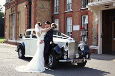 Vintage Inspired English Elegance: Navy, Pink   retro car, classic car, wedding