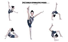Children Gymnastic Poses by flowerchamber - The Sims 4 Toddler Dance, Sims 4 Toddler, Kid Poses, Dance Poses, Toddler Poses, Sims 4 Mods, My Sims, Sims Cc, Sims 4 Cc Kids Clothing