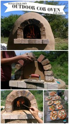 DIY $20 Outdoor Cob Oven Instructions - DIY Outdoor Pizza Oven Ideas Projects