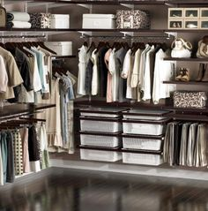 elfa system, walnut and white elfa system, container store, container store elfa system, closet installation, tips to organize closet, organized closet, organized home, home decor, neat closet, neat method, walk in closet