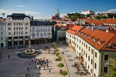 Places to see in Slovakia: Bratislava Bratislava, Eastern Europe, Resort Spa, Holiday Travel, Places To See, Paris Skyline, Tourism, To Go, Street View