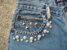 elizabethlola: DIY Beaded Shorts ♥