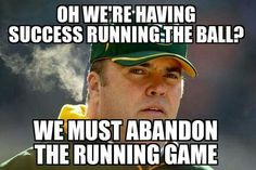 Can't believe he wanted to play it so safe! Nfl Packers, Sports Memes, Raiders, Football, Baseball Cards, Play, Sweet, Funny, Soccer