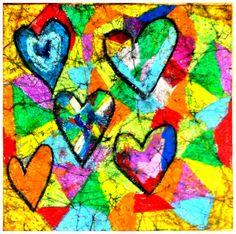 Organized Chaos: Jim Dine batik hearts
