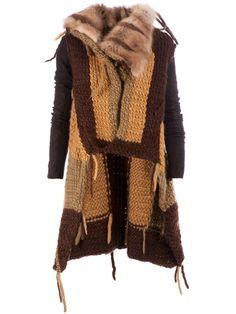 RICK OWENS patchwork coat by farfetch