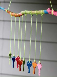 Keys Wind Chime! Great recycling idea!