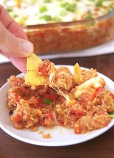 Spicy Mexican Quinoa Casserole by theironyou #Casserole #Mexican Quuiinoa #Healthy