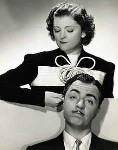 Myrna Loy and William Powell by Vintage-Stars, via Flickr